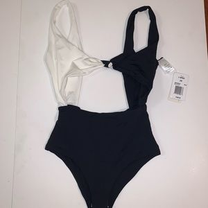 l*space Swim - L*Space Kylie Knot One Piece in Black/White